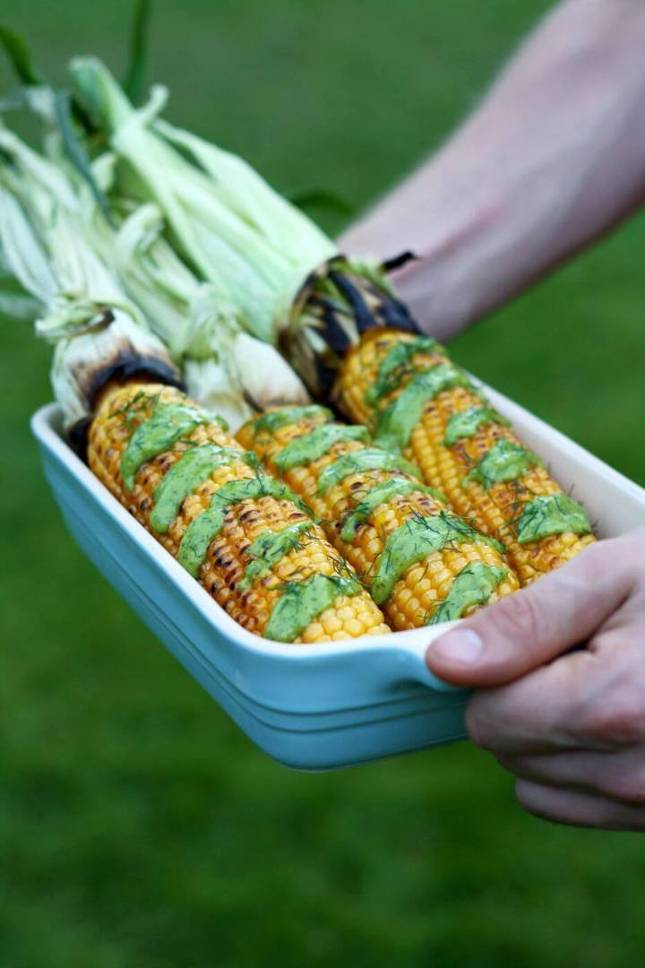 Grilled-corn-on-the-cob-avocado-dill-dressing-6