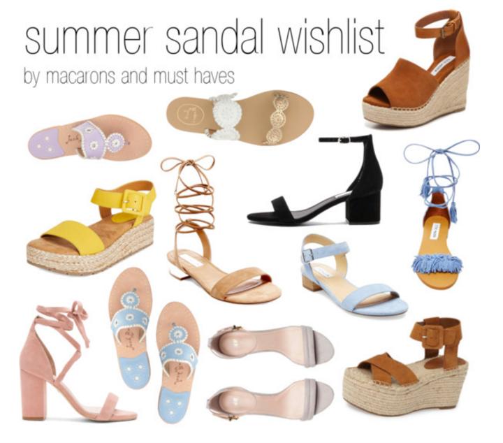 Summer Sandal Wishlist