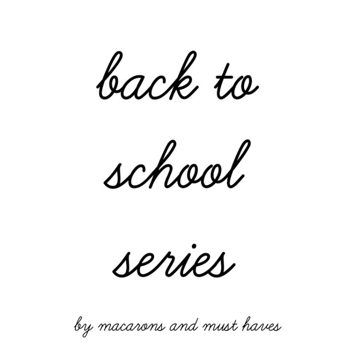 My Back to School Series