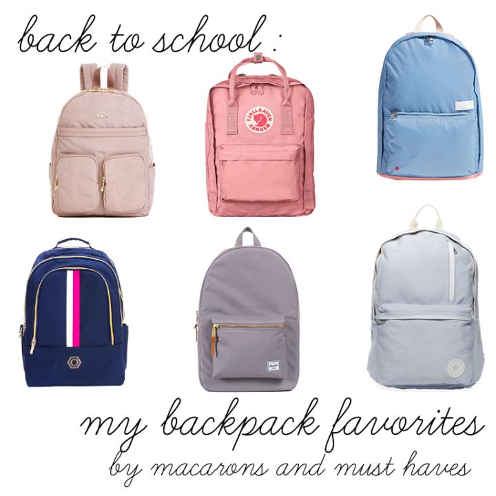 Back to School – My BackpackFavorites