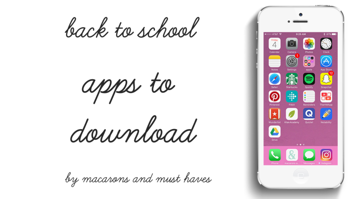 Back to School – Apps toDownload