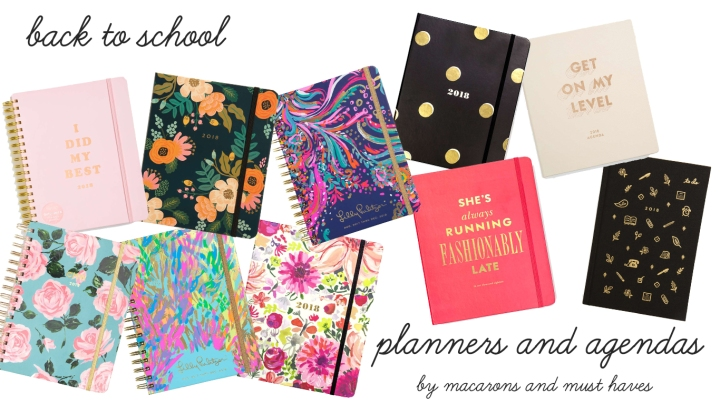 Back to School – Agendas and Planners