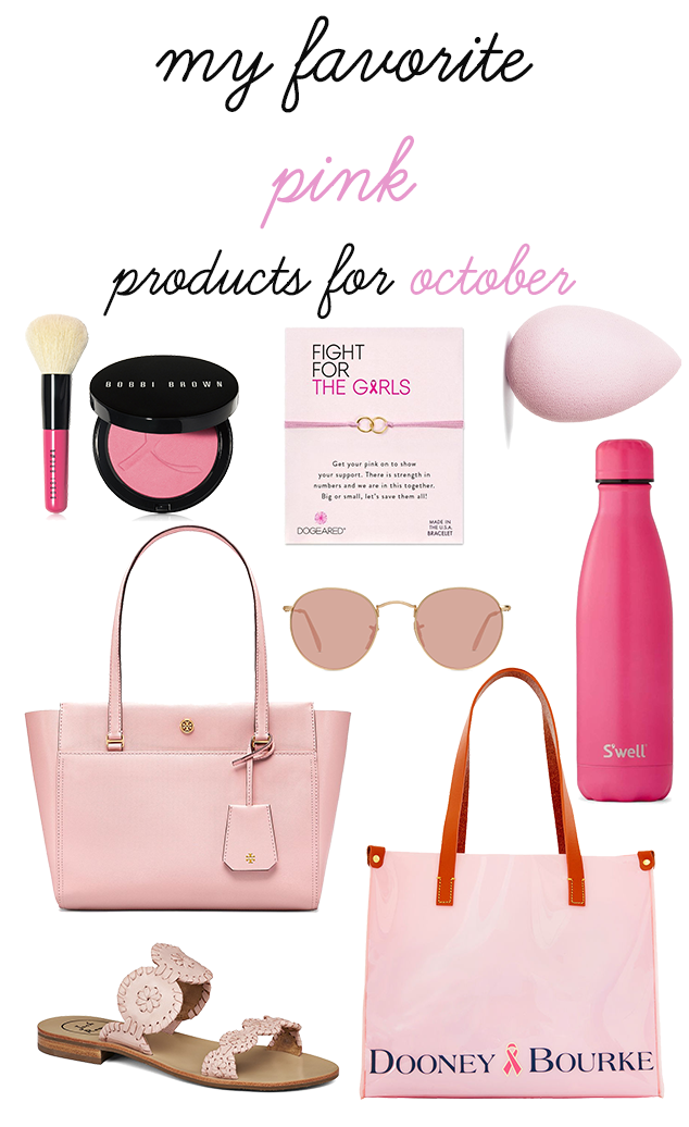 My Favorite Pink Products for October