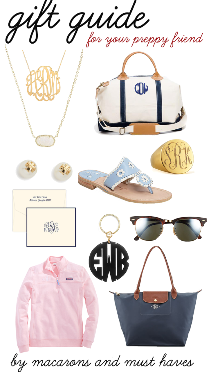 Gift Guide for Your PreppyFriend!